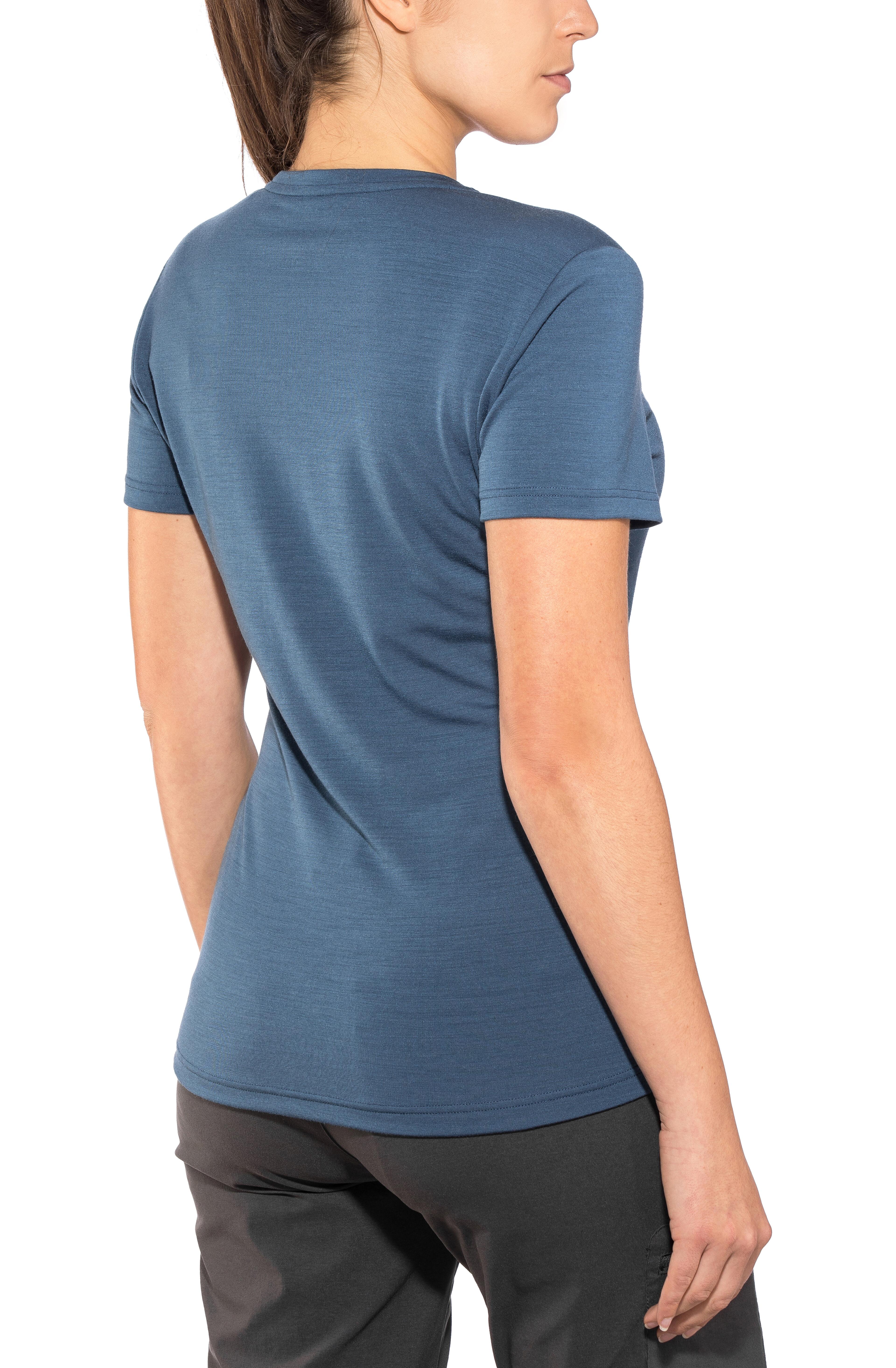 56a42719 Mammut Alvra Shortsleeve Shirt Women blue at Addnature.co.uk